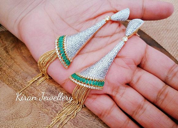 Green Stylish Earrings