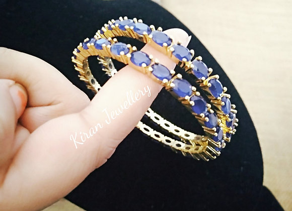 Blue Color Sleek and Elegant Bangles