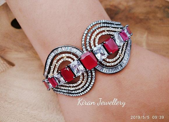 Oxidise Ruby Bracelet