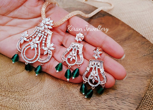 Green Color Elegant AD Pendant Set