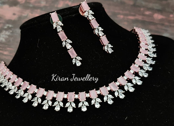 Pink Stone AD Necklace