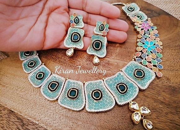 Indo Western Look AD Necklace