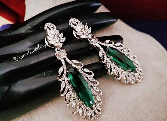 Green  Color Earrings