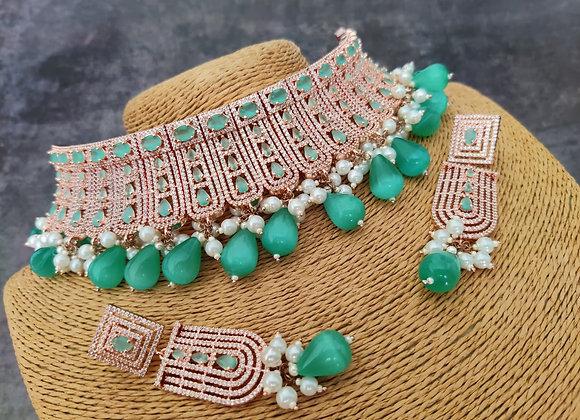 Mint Bridal Choker Necklace