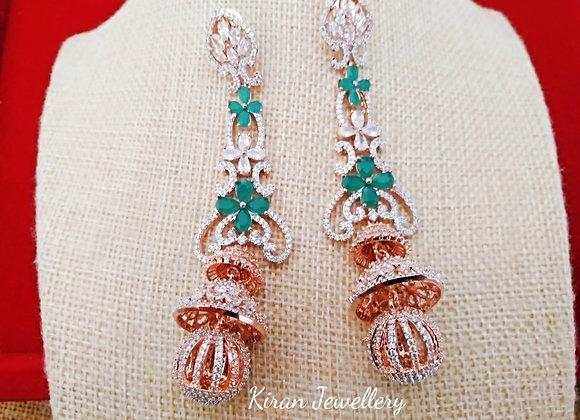 Green AD Royal Earrings