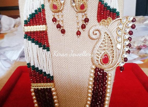 Royal Look Ruby Mala Necklace