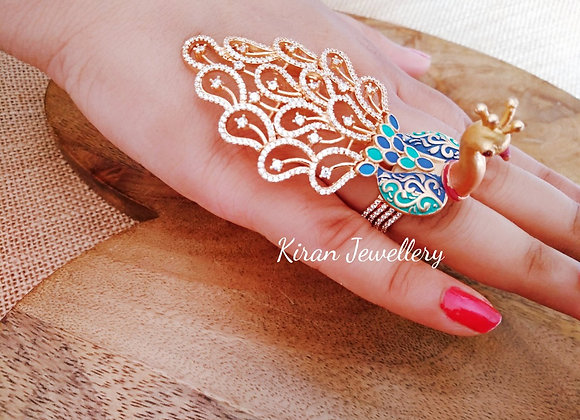 Beautiful Peacock Ring