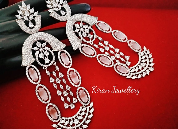 Pink Color Stylish Earrings