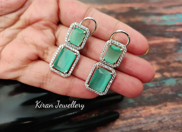Mint Stone Elegant Earrings