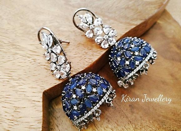 Blue Color Rotating Jhumki