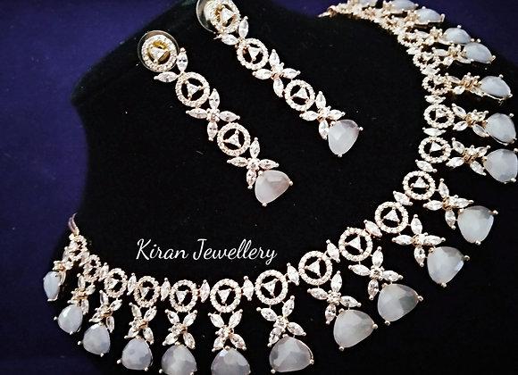 Grey Stone AD Necklace