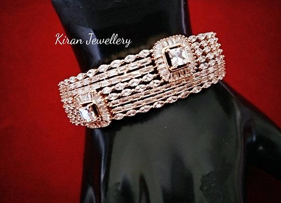 RoseGold Polish Elegant Diamond Bracelet