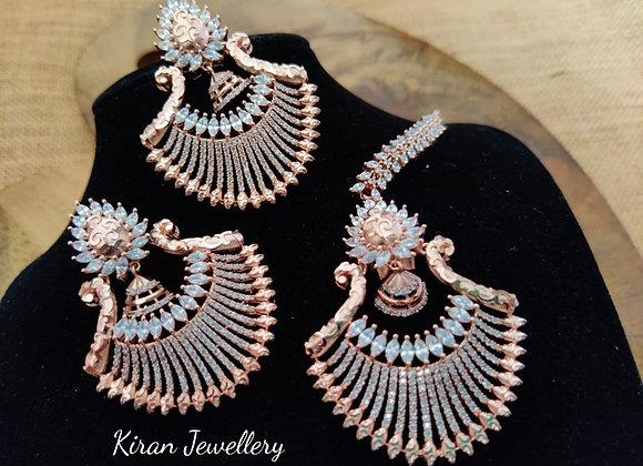 RoseGold Polish Earrings Mangtikk