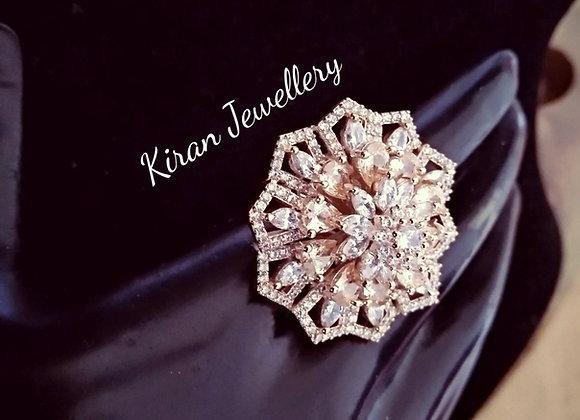 RoseGold Polish Royal Look Ring