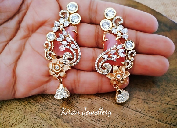 Pink Color Stylish Earings