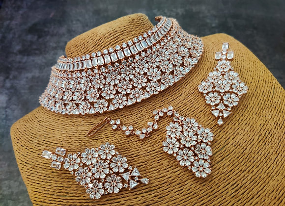 Diamond Bridal Choker Necklace