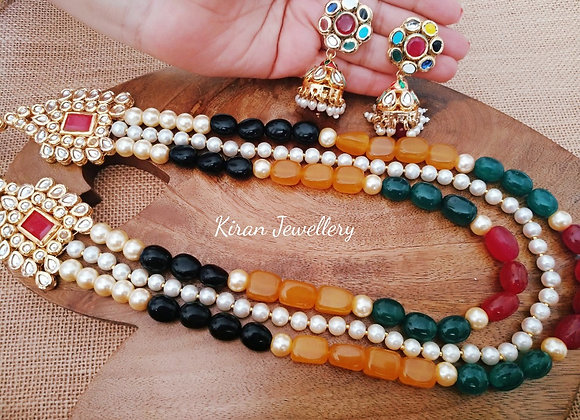 Multicolored Kundan Necklace