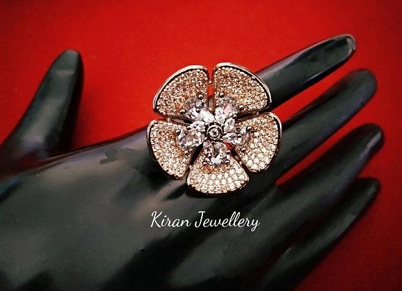Lovely Flower Shaped Ring