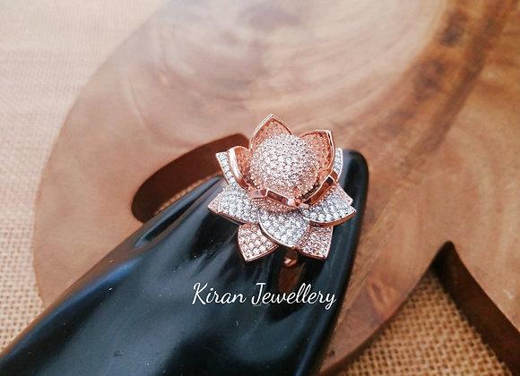 RoseGold Polish Rose Ring