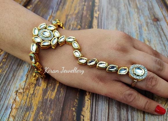 Elegant Kundan Handcuff