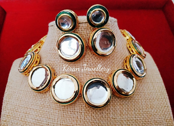 Round Shape Kundan Necklace
