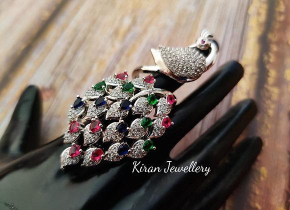 Elegant Peacock Ring