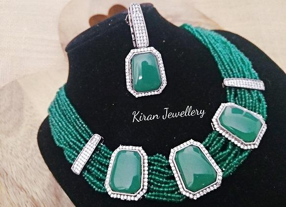 Green Color Elegant Necklace
