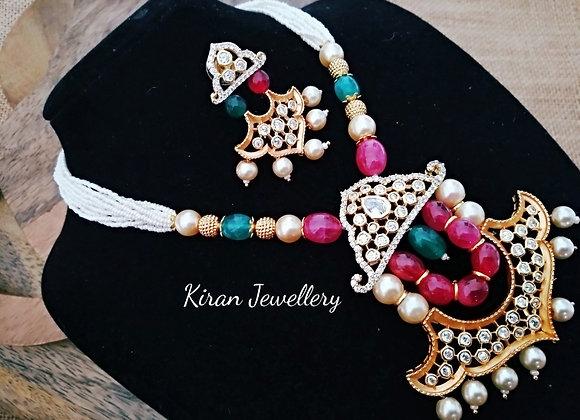 Pearl Mala Necklace Set