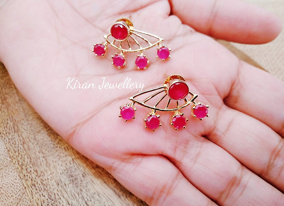 Ruby Color Earcuffs