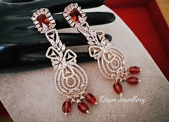 Elegant Earrings in Lovely Shade