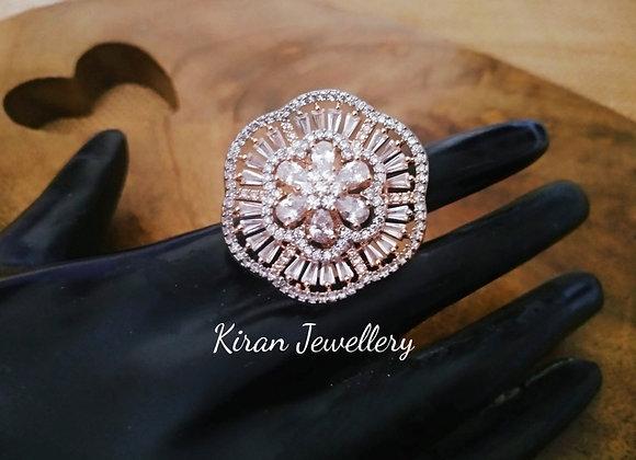 Elegant RoseGold Polish  Ring