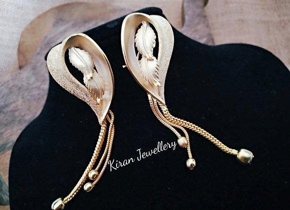 Golden Leaf Earrings