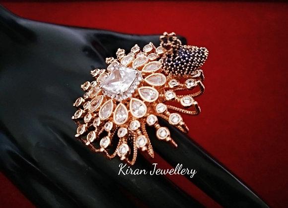 RoseGold Polish Peacock Ring