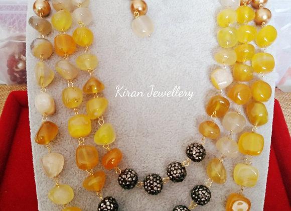 Yellow Color Stylish Mala Set