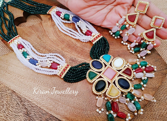 Multicolor Stylish Mala Set