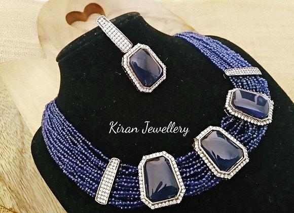 Blue Color Elegant Necklace