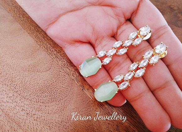 Sea Green Drop Earrings