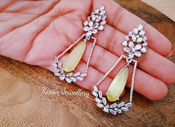 Elegant Yellow Color Earrings