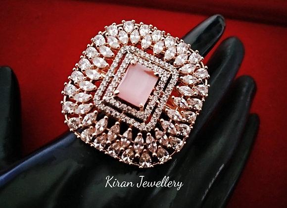 Pink Stone Stylish AD Ring