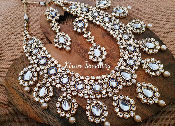 Long and Heavy Bridal Necklace
