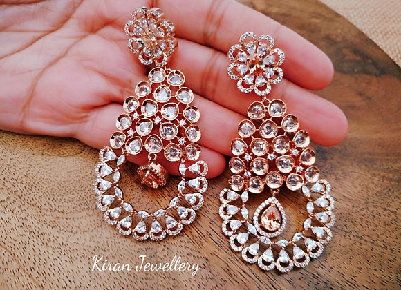 Champagne Color AD Earrings