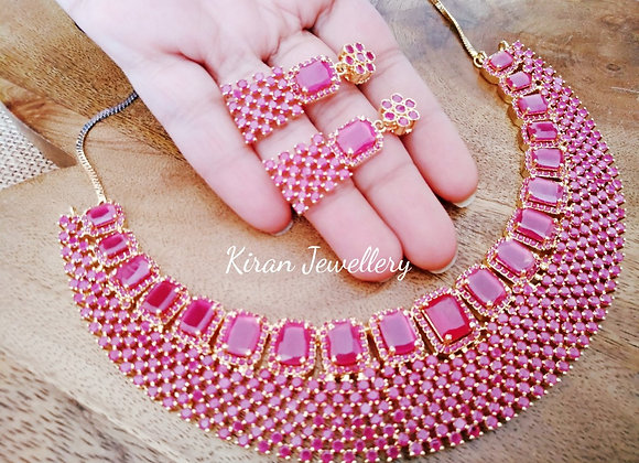 Royal Party Wear Ruby Necklace