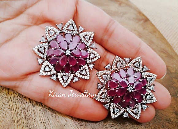 Ruby Color Stylish Studs