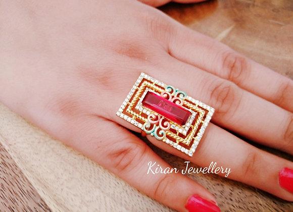 Red Stone Elegant Ring