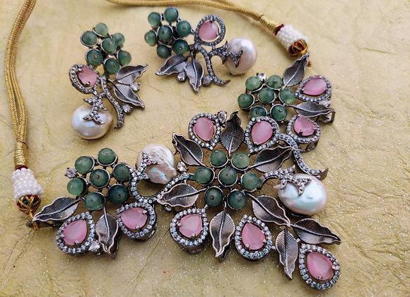 Designer Baroque Pearl Necklace