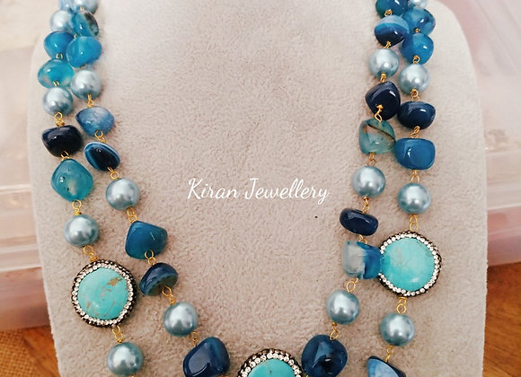 Blue Color Stylish Mala Set