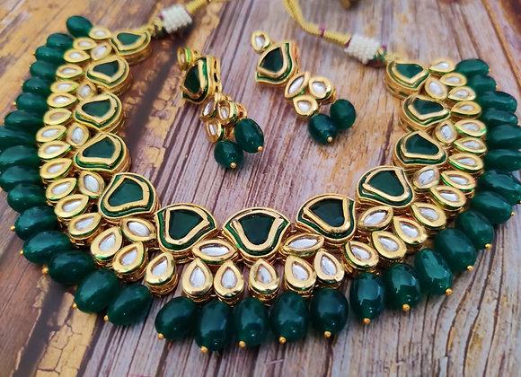 Green Kundan Necklace
