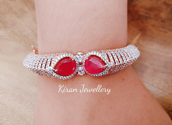 Ruby Colored AD Bracelet