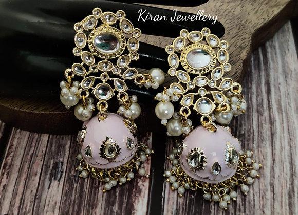 Meena Kundan Earrings