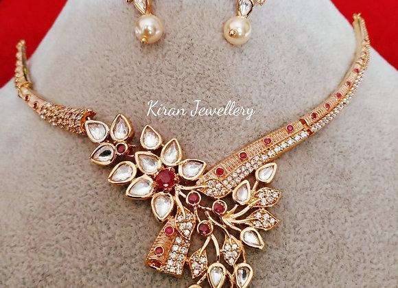 Elegant and Stylish Kundan Necklace